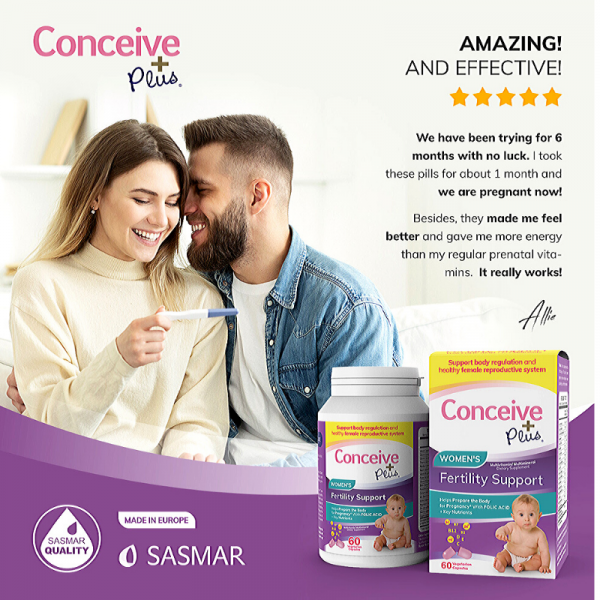 用戶評論Conceive Plus女性生育力葉酸片補充劑